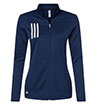 A483 - Ladies' 3-Stripes Double Knit 1/4 Zip Pullover