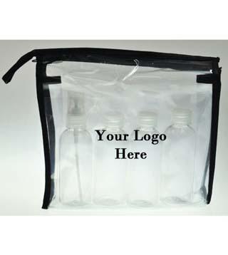 Travel Bottle Set with Bag
