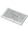 BLK-ICO-122 - Metal Business Card Case with Checkerboard Inlay