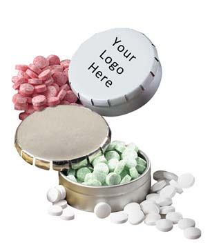 Pop Top Tin with Mini Mints