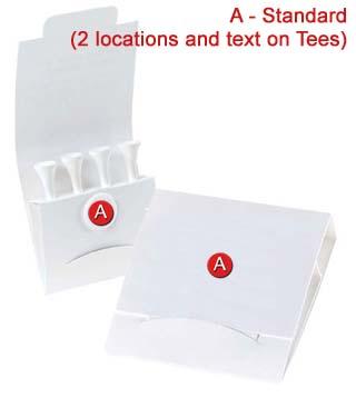 Golf Tee Matchbook Pack
