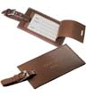 BLK-ICO-322 - Rectangular Cowhide Leather Luggage Tag