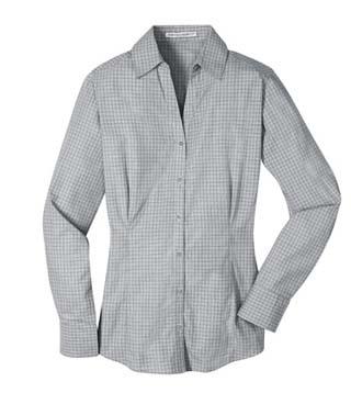 Ladies' Plaid Pattern Easy Care Shirt